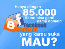 Promo Facebook & Blogspot With U Domain